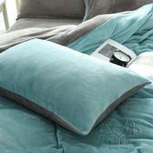 (百貨週年慶)枕頭套 珊瑚絨素面枕套粉雙面金貂絨單只 單人加厚枕頭套舒適