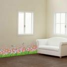 【半島良品】壁貼 DIY創意無痕 牆貼 貼紙- 七彩花圃 50x70_XH7216