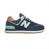 New Balance 574系列 女款牛仔藍復古慢跑鞋-NO.WL574BCM