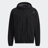 ADIDAS Woven Jacket 男裝 外套 連帽 大口袋 可調式帽緣 黑【運動世界】H38399