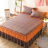 床罩組 全棉床罩床裙式單件床蓋床套床單1.8米1.5m床床裙防滑保護套