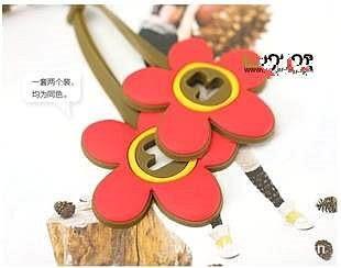 【發現。好貨】韓國文具 花花 花朵多功能繞線器 耳機收線器 捲線器