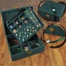 首飾盒 復古風珠寶多層功能首飾收納盒飾品耳釘耳環項鏈戒指超大容量簡約【快速出貨八折下殺】