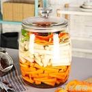 玻璃泡菜壇子加厚家用四川20斤泡菜酸菜辣椒醬泡爪配蓋密封大容量 可然精品