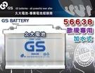 【久大電池】 GS 統力 汽車電瓶 加水式 56638 DIN65 66AH 歐洲車 汽車電池