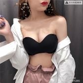 抹胸 夏季美背裹胸打底防走光少女性感無肩帶聚攏上托隱形抹胸文胸內衣 鹿角巷