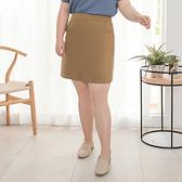 《CA1561》臧芮軒。純色高含棉A字短裙 OrangeBear
