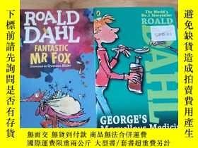 二手書博民逛書店ROALD罕見DAHL:GEORGE S Marvellous Medicine FANTASTIC MR FOX