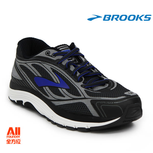 【BROOKS】男款避震型慢跑鞋 4E寬楦 DYAD 9 - 海藍黑(314E038)-全方位跑步概念館