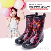 中大尺碼雨鞋 秋冬女士中筒保暖雨靴防滑舒適水鞋中幫成人膠鞋套鞋 nm21084【VIKI菈菈】