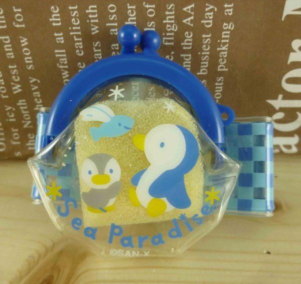 【震撼精品百貨】San-X動物家族_藍企鵝~手腕零錢包-藍