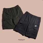 NIKE 短褲 NSW CARGO SHOR 黑 刺繡LOGO 工裝 多口袋 男 (布魯克林) DD4729-010