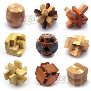 成人益智智力玩具 孔明鎖魯班鎖 智力解鎖玩具 小彩盒包裝