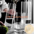 花瓶擺件客廳插花透明玻璃北歐創意簡約直筒富貴竹馬醉木銀柳家用【白嶼家居】