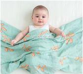 嬰兒裹布 嬰兒紗布被子薄款裹布新生兒童竹纖維包巾抱被 珍妮寶貝