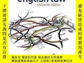 二手書博民逛書店Smith罕見and Keenan s English Law