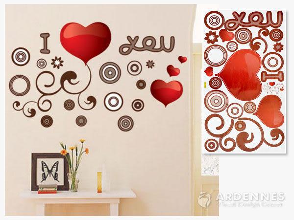 【ARDENNES】創意組合DIY壁貼/牆貼/兒童教室佈置 I Love You