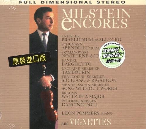 【停看聽音響唱片】【CD】NATHAN MILSTEIN:ENCORES & VIGNETTES