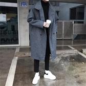 毛呢大衣 毛呢大衣男韓版中長款風衣寬鬆2019秋冬裝網紅呢子外套原宿風 小天後