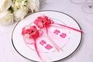 伴郎伴娘仿玫瑰胸花名條 韓風仿玫瑰胸花~婚禮小物