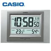 【卡西歐CASIO】ID-16S-8DF 銀色 溫溼度電子掛鐘