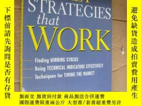 二手書博民逛書店STOCK罕見MARKET STRATEGIES that WO