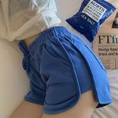 DE shop - 韓國鬆緊抽繩滾邊素色單色運動短褲 - HL-7886