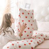 簡約全棉小清新粉色少女心學生枕芯套純棉單人48 74cm枕套100%棉