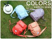 ~卡通後背包~韓系多 旅行童趣收納包可折疊防水摺疊式收納包雙肩背包學生包雙肩包