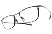 JAPONISM光學眼鏡 JN652 C04 (槍黑-霧槍黑) 紳士流線細框款 平光鏡框 # 金橘眼鏡