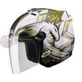 [中壢安信]SOL SL-27S SL 27S 彩繪 獨角獸三代 白黃 安全帽 半罩式安全帽 再送好禮2選1