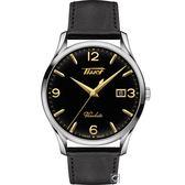 TISSOT天梭HERITAGE VISODATE復刻經典石英腕錶  T1184101605701