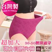 女性 超彈力 中大尺碼內褲 (50吋腰圍以內適穿) 加大尺碼 超彈性台灣製造 No.46890-席艾妮SHIANEY