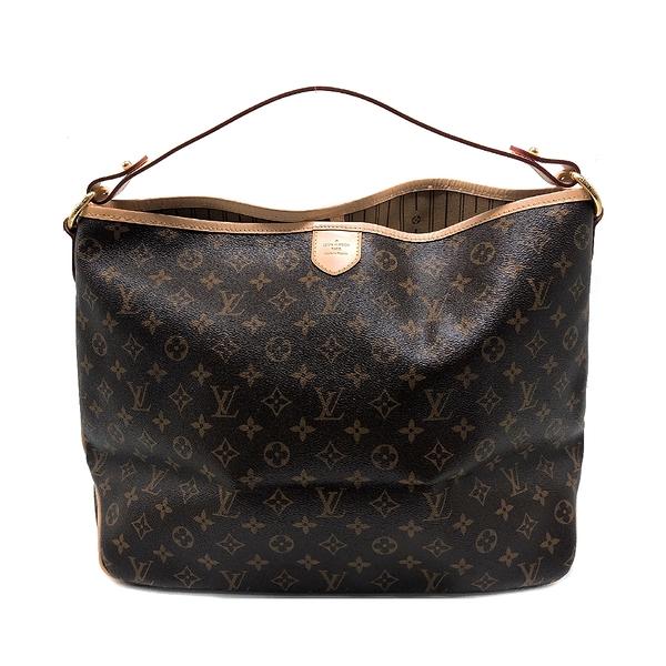 【台中米蘭站】展示品 Louis Vuitton Delightful MM 經典花紋肩背包(M50156-咖)