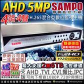 【台灣安防】監視器 AHD 1440P 聲寶H.265 4路主機 4路4聲DVR 5MP混搭型 相容TVI/AHD/CVI 監控錄影機 DVR