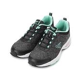 JUMP 鬆緊束帶氣墊運動鞋 黑綠 JP210 女鞋 鞋全家福