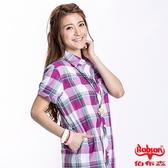 BOBSON 女款格紋短袖襯衫(23135-62)
