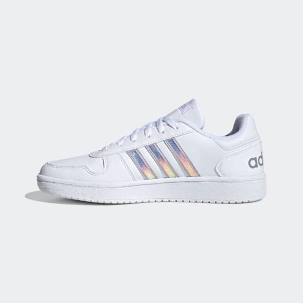 Adidas NEO HOOPS 2.0 女款白色運動休閒鞋-NO.FW3535