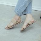 Queen Shop【05030225】簡約寬版雙繫帶平底涼鞋 兩色售 36-40*現+預*
