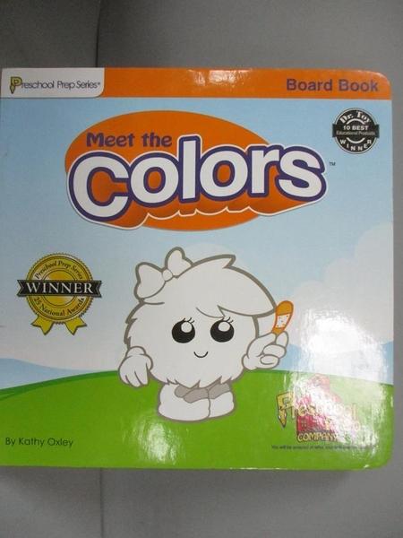 【書寶二手書T1/少年童書_KOI】Meet the Colors : Lift the Flap Book_Kathy Oxley