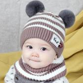 嬰兒帽子秋天冬季男女寶寶毛線帽0新生純棉幼兒1-3歲小孩兒童護耳
