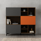 書櫃 北歐書櫃書架自由組合美式現代簡約1.2米落地書櫃裝飾置物架 夢藝家