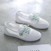 新款春夏季百搭網面一腳蹬小白鞋女鞋子透氣小雛菊運動板鞋潮