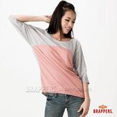 BRAPPERS 女款 撞色剪接變化七分袖上衣-粉