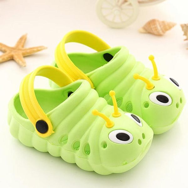 兒童毛毛蟲包頭涼鞋1-3歲男寶女寶夏季5男童6女童軟底涼拖鞋 -十週年店慶 優惠兩天