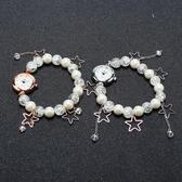 裝飾珍珠女士手鏈表防水纏繞時裝手表女