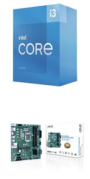 【自組DIY兩件組I3】Intel i3-10105+華碩 PRO B560M-C/CSM