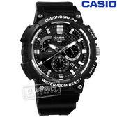CASIO MCW 200H 1A 卡西歐三針三眼碳纖維紋路防水 橡膠手錶黑色52mm ~