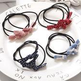 髮飾 髮圈 綁髮 韓國小蝴蝶結三層布藝髮圈
