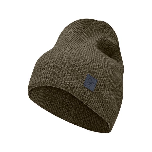 Norrona 老人頭 /29 thin marl 羊毛編織保暖帽 橄欖綠